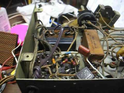 Repair of a 1930's Airline AM tube radio