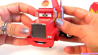 "Wood Mack Truck Hauler Cars 2 Wooden Collection Toys""r""us Tru Exclusive Disney Pixar Toys"