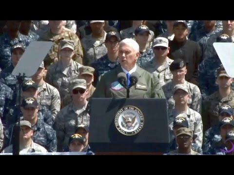 VP Mike Pence speech to US Service Members Aboard the USS Ronald Reagan April 18 2017