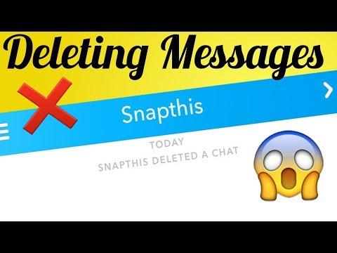 Deleting Chat in Snapchat
