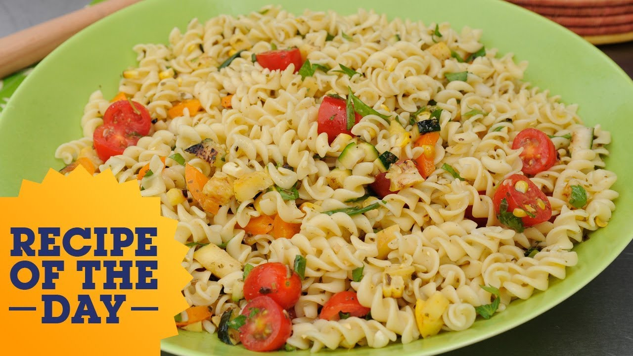 Recipe of the day colorful veggie pasta salad food network youtube recipe of the day colorful veggie pasta salad food network forumfinder Gallery