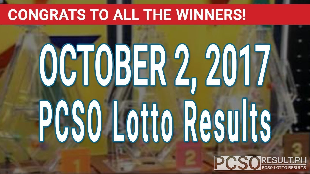 Pcso Lotto Results Today October   D Swertres Ez