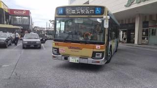 神奈川中央交通中山営業所 いすゞ新型エルガ 新かなみんバス な18号車 横51系統 横浜駅西口行き 中山駅にて、