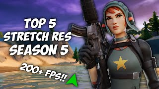 Top 5 Stretch resolขtions for Fortnite Season 5!! Get better Aim an FPS!