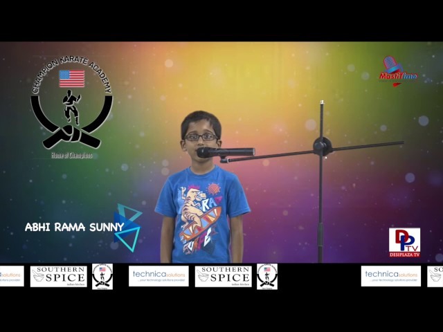 "Abhi Rama Sunny speaking about ""When I grow Up"" in Talking Bee - Public Speaking competitions 2016"