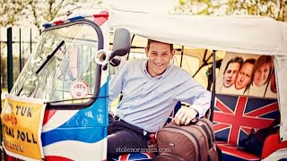 Martin Powell-Davies chats in the back of a tuk tuk