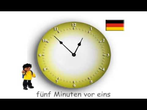 wie viel uhr ist es deutsch how to tell the time in german youtube. Black Bedroom Furniture Sets. Home Design Ideas