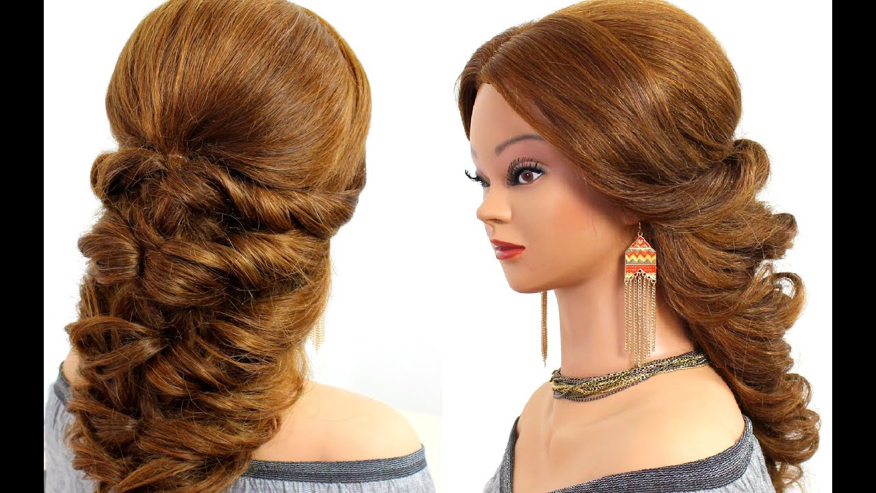 Hairstyle Video On Youtube : Easy wedding prom hairstyle for long hair. - YouTube