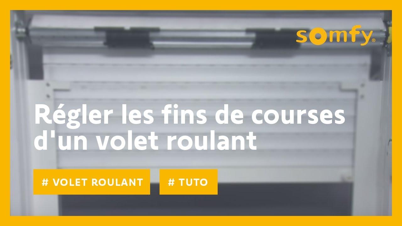Somfy Volet Roulant Reglage Fins De Courses Sur Un Volet