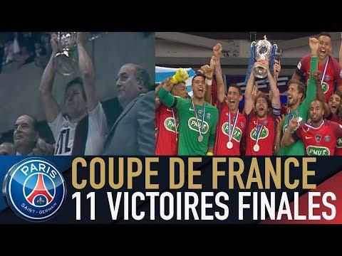 COUPE DE FRANCE : LES 11 FINALES VICTORIEUSES DU PARIS SAINT-GERMAIN