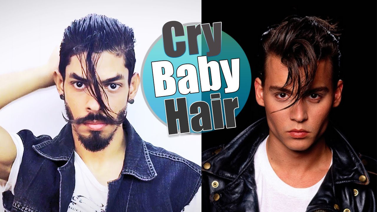 sc 1 st  YouTube & Johnny Depp Cry Baby | Hairstyle Tutorial - YouTube