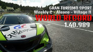 WORLD RECORD | GT SPORT | 1.40.989 | Alsace - Village II Honda NSX Concept GT Gr. 2 | Weekly C