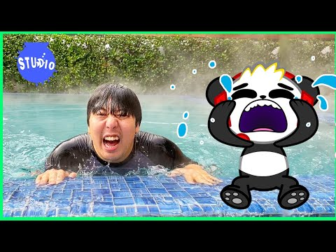 Ryan's Daddy Pranks Combo Panda and Office Battle IRL Jungle Obby!