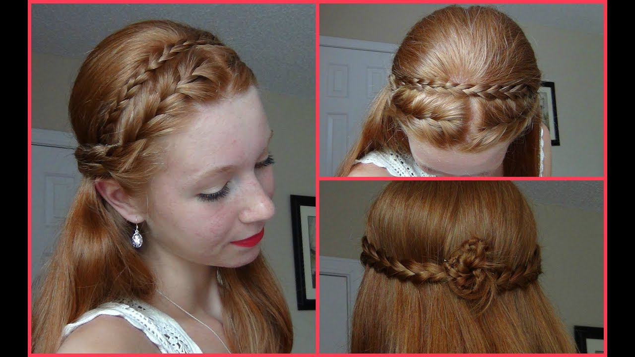 Hair Styles With Braids: Summer 2013 Hairstyle! Half Up Half Down French Braided