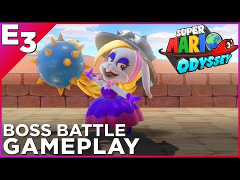 "SUPER MARIO ODYSSEY ""Harriet"" Boss Battle Gameplay! — Polygon @ E3 2017"