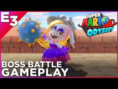 "SUPER MARIO ODYSSEY ""Harriet"" Boss Battle Gameplay! —Polygon @ E3 2017"