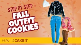 How To Make Winter Outfit Cookies by Megan Warne | How To Cake It Step By Step