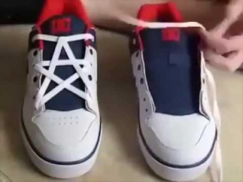Завязываем шнурки красиво фото пошагово