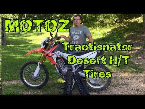 MotoZ Tractionator Desert H/T Tires Install Honda CRF250L Dual Sport