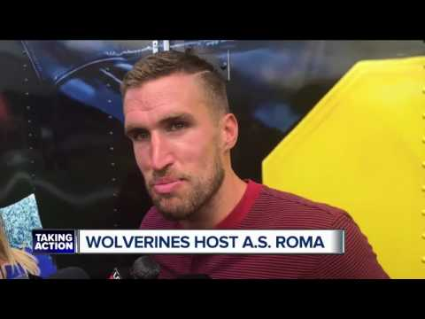 Michigan football bonds with A.S. Roma in Ann Arbor