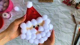 делаем замечательную 3Д открытку на новый год 2019 Дед мороз красный нос своими руками