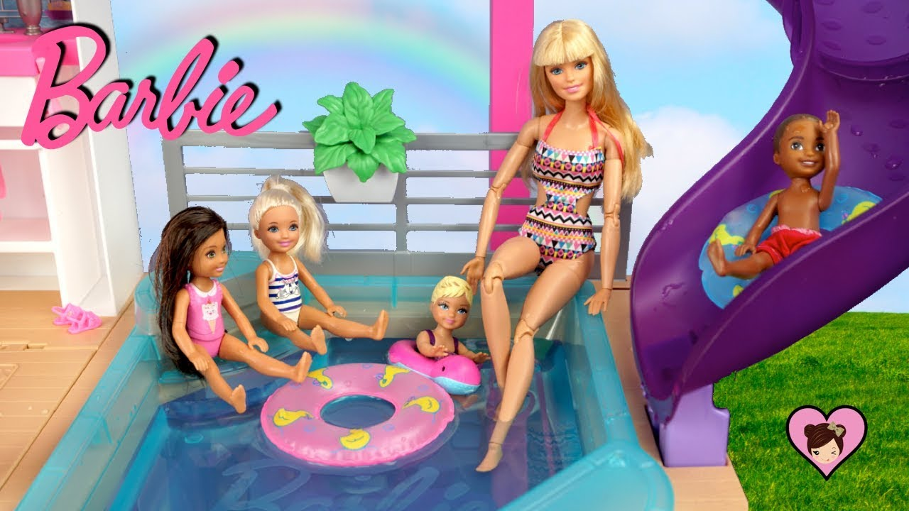 New Barbie Dreamhouse Adventures Morning Routine With Pool Party