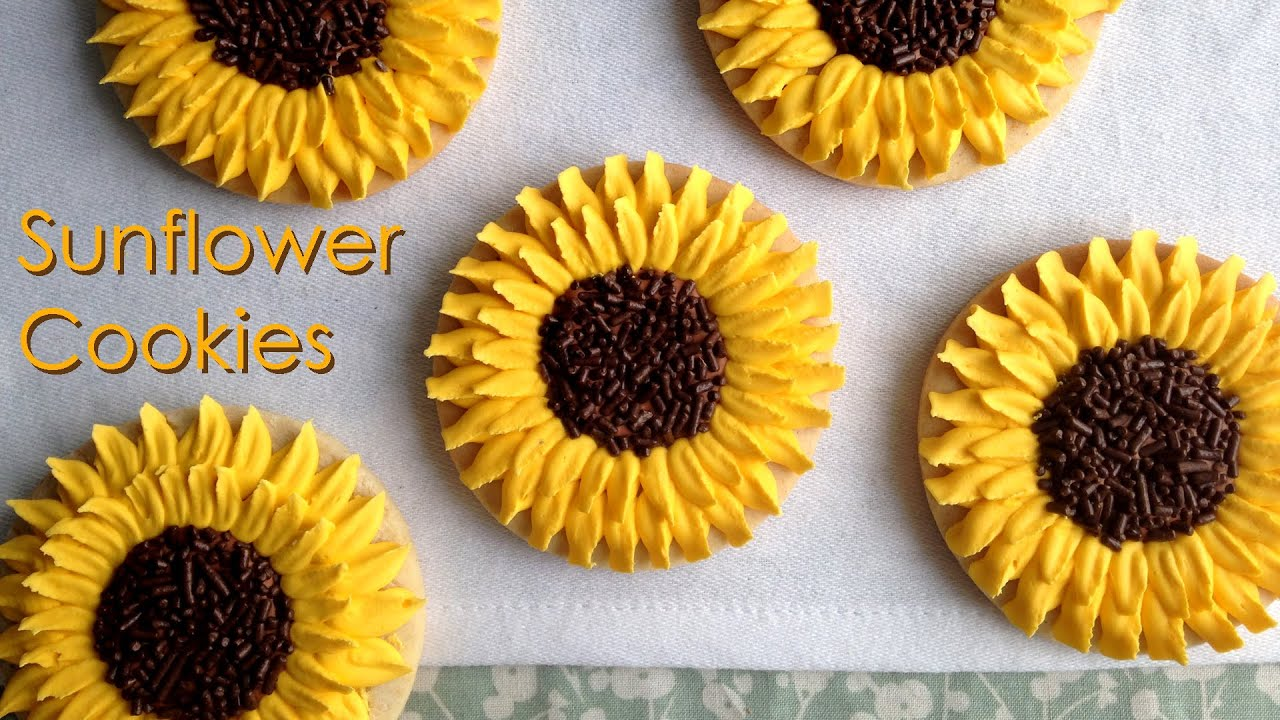 how to decorate sunflower cookies youtube - How To Decorate Cookies