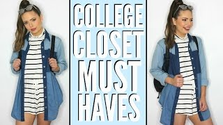Uni/College Closet Essentials