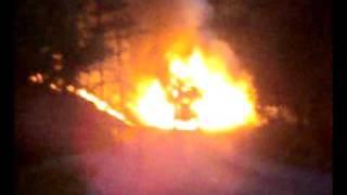 Płonący traktor Klaczno