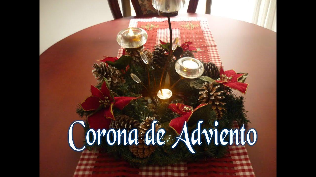 Manualidades para navidad como hacer corona de adviento for Manualidades para hacer adornos de navidad