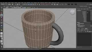 How to model a Cup in Autodesk Maya 2013