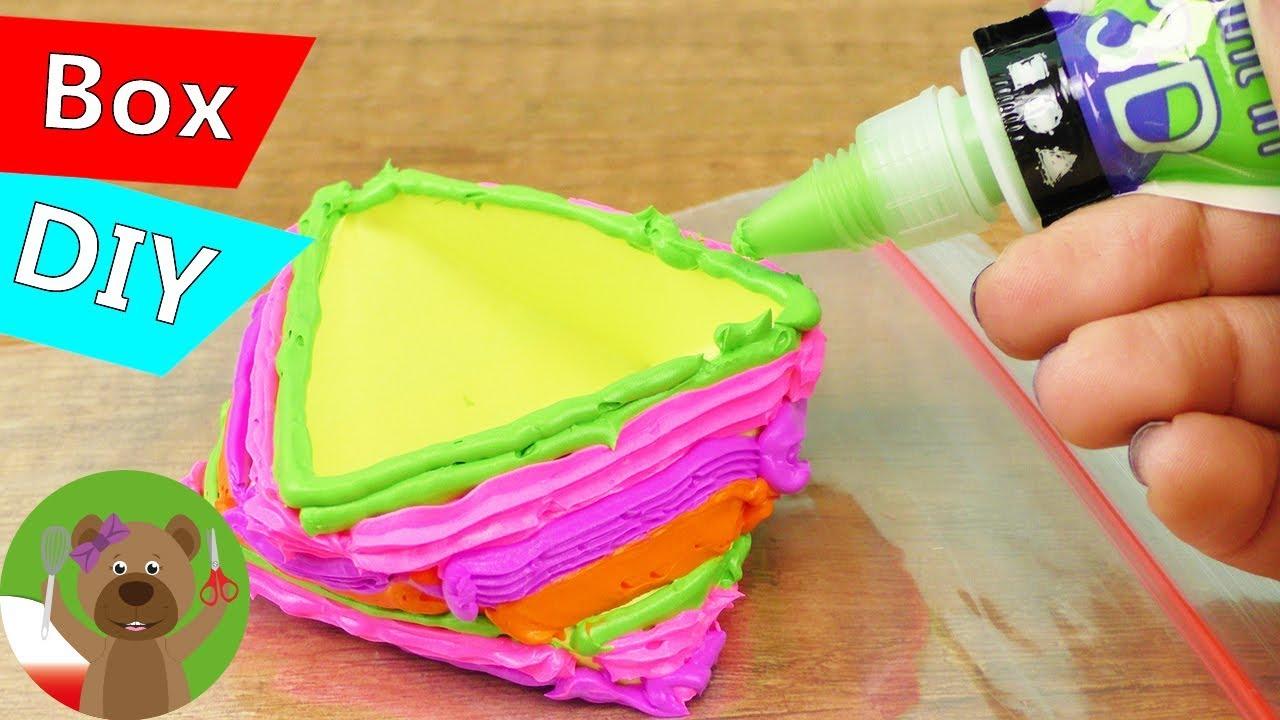 DIY pudełko z dekoracją 3D | Silk Clay Creamy | Mega kolorowe pudełko | masa jedwabna w tubce