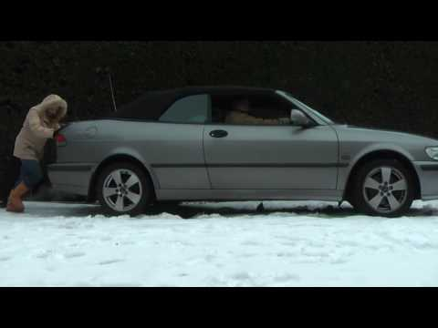 Car Stuck in the Snow