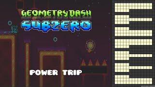 Geometry Dash Subzero - Power Trip [Piano Cover]