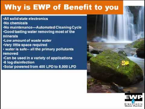 Water Purification by Aqua EWP. Providing Access to Clean Water for the World