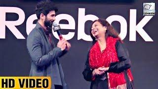 Shahid Kapoor's CUTE Moment With MOM Neelima Azeem   LehrenTV