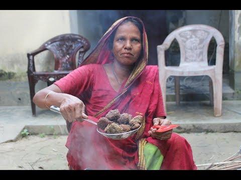 Village Food | Small fish kofta curry | Grandmother recipes-119