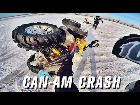 #23 | ATV CRASH CAN-AM RENEGADE 1000 | Snow-Drift Can-Am Outlander 1000 & 650 | Квадроциклы