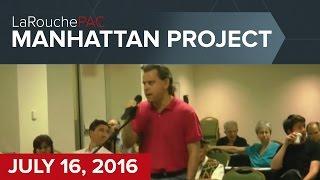 July 16, 2016 Manhattan Town Hall event with Diane Sare & Dennis Speed