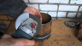 Подготовка кромок трубы болгаркой под просвет (фаска под просвет)