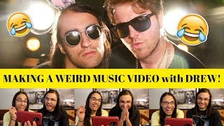 MAKING A WEIRD MUSIC VIDEO with DREW! - SHANE DAWSON I OUR REACTION! // TWIN WORLD