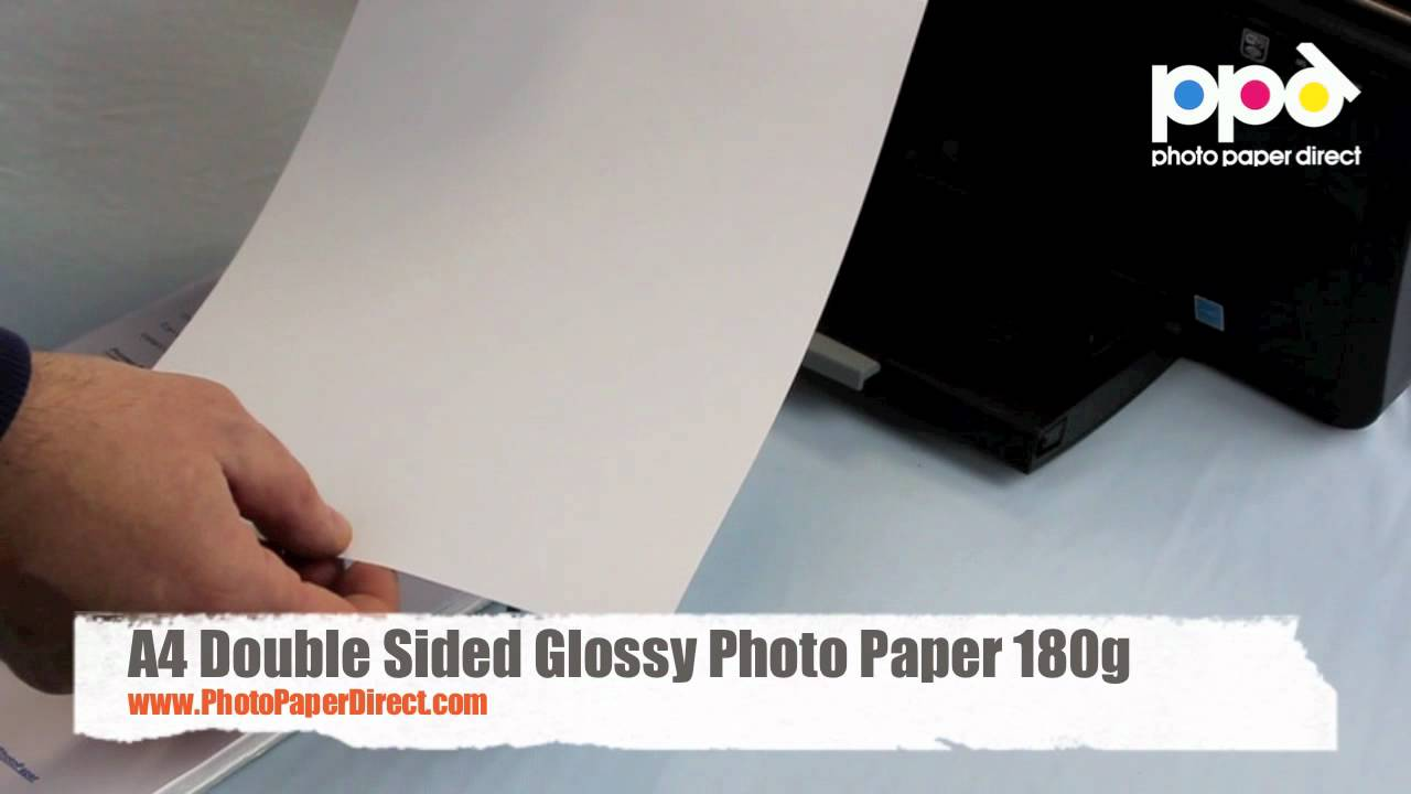 a4 double sided glossy photo paper 180g