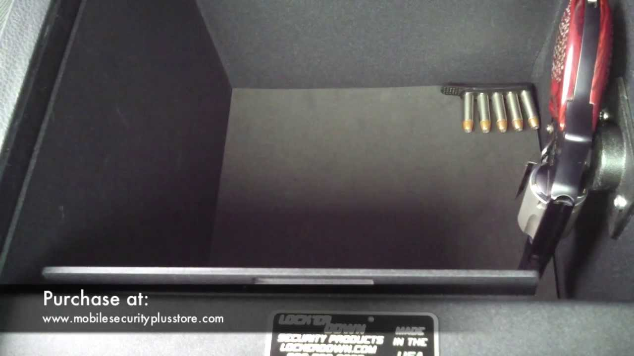 Locker Down Vehicle Console Safe Youtube