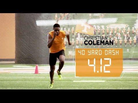 CHRISTIAN COLEMAN FASTEST 40 YARD DASH EVER!
