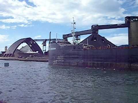 Goderich Harbor, Algoma Navigator And Sifto Salt Mine Damage From Tornado
