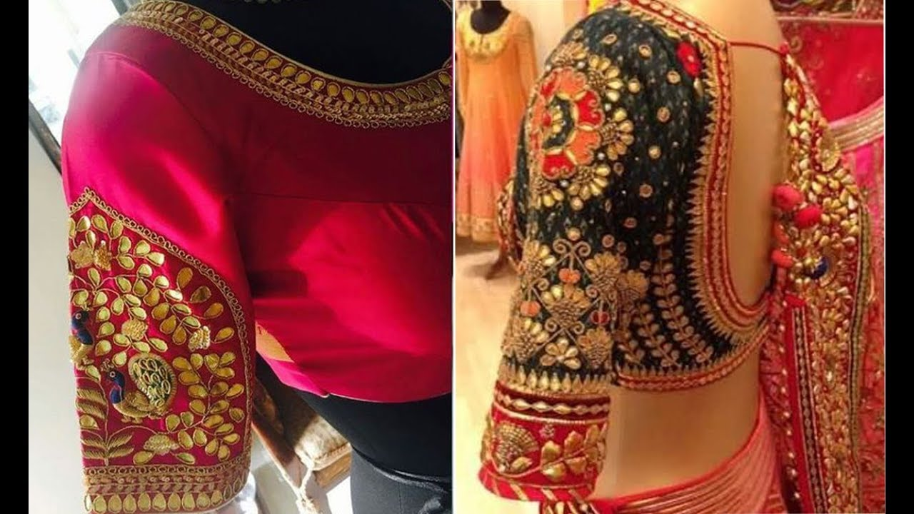 b6ed4cea1fe Latest Gotapatti Work Blouse Design Patterns - Blouse Designs For Back And  Front - Saree Blouse