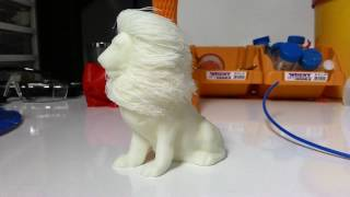 Post Processing Of 3d Printed Hairy Lion