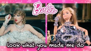 BARBIE Copied TAYLOR SWIFT's  Look What You Made Me Do - Music Video Outfits - Toy Transformations