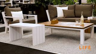 LIFE Outdoor Living - Timber lounge white