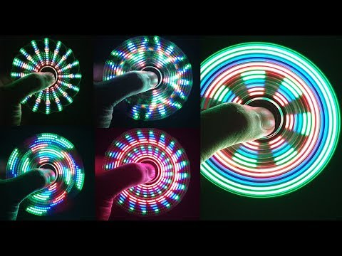 Assembling A LED HAND SPINNER, FIDGET TOY At Home